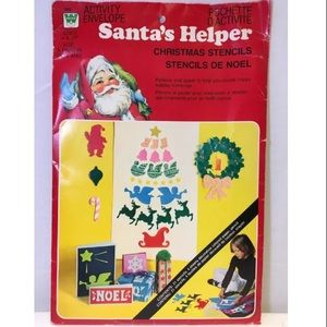 Whitman's Santa's Helper Christmas Stencils 1976